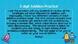 Three Digit Addition Strategy Practice