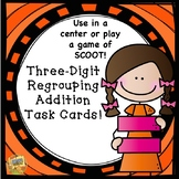Three-Digit Addition with Regrouping Task Cards!  SCOOT!  Grades 2-4