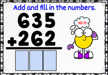 Three Digit Addition without Regrouping Boom Cards