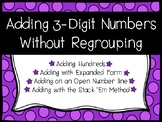 Three Digit Addition without Regrouping Worksheets