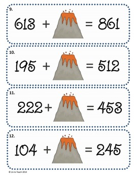 Three-Digit Math Games Using Place Value (Common Core / Go Math)