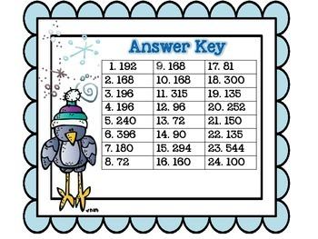 Three-Digit Multiplication Task Cards
