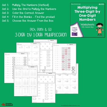 Three Digit Multiplication Worksheets With Answer Keys