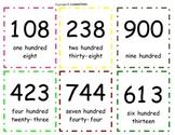 Three Digit Number Flashcards