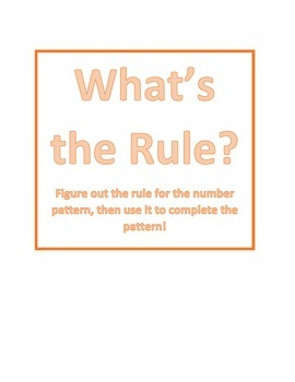 Three Digit Number Patterns