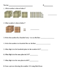 Three Digit Number Place Value: Word, Block, and Standard Form