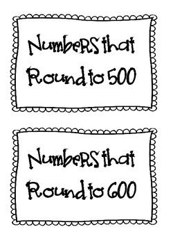 Three-Digit Number Rounding Sort Game