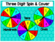 Three Digit Place Value Spin and Cover Game