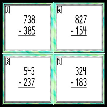Three Digit Subtraction - All Regrouping