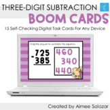 Three Digit Subtraction Boom Cards / Digital Task Cards /