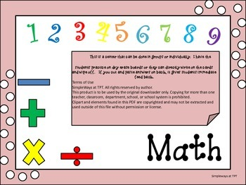 Three Digit Subtraction Cards