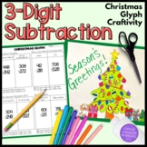 Three Digit Subtraction Christmas Tree Glyph Craftivity