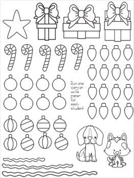 Three Digit Subtraction Christmas Tree Glyph Craftivity