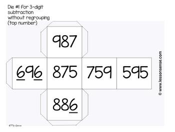 Three Digit Subtraction Game