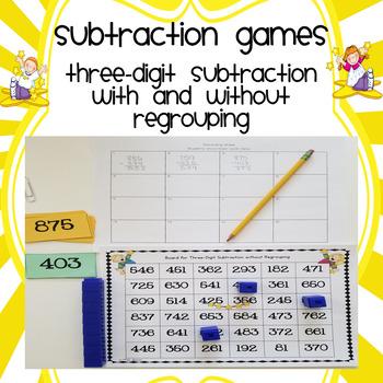 Three-Digit Subtraction Games