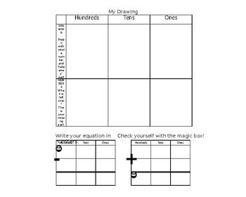 Three Digit Subtraction Graphic Organizer