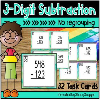 Three Digit Subtraction - No Regrouping