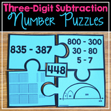 Three-Digit Subtraction Number Puzzles