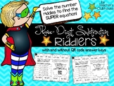 Three-Digit Subtraction Riddlers