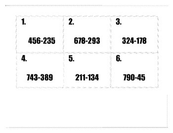 Three Digit Subtraction SCOOT!