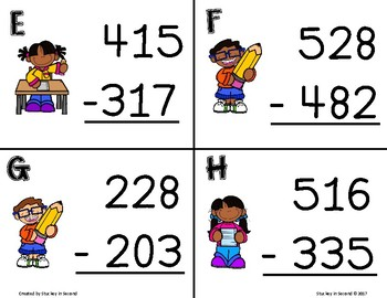 Three Digit Subtraction SCOOT (With & Without Regrouping)