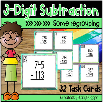 Three Digit Subtraction - Some Regrouping