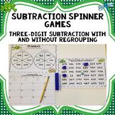 Three Digit Subtraction Spinner Games