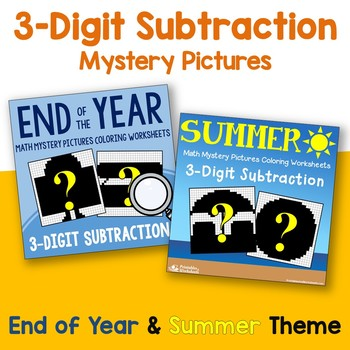 Three Digit Subtraction - Summer, End of Year