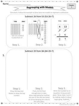 Three-Digit Subtraction Supplemental Unit to Math in Focus 2nd Grade/Grade 2