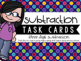 Three-Digit Subtraction Task Cards {Mixed With & Without Regrouping}