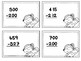 Three Digit Subtraction Task Cards (No regrouping)