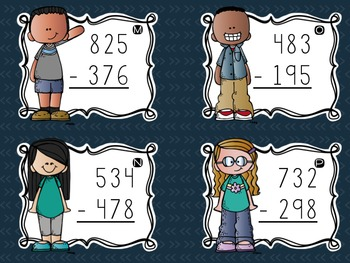 Three-Digit Subtraction Task Cards {With Regrouping Across Tens and Hundreds}