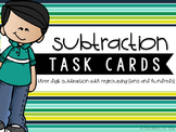Three-Digit Subtraction Task Cards {With Regrouping Across