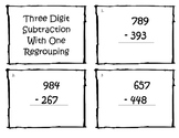 Three Digit Subtraction With One Regrouping