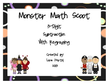Monster MathThree Digit Subtraction With Regrouping