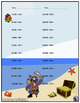 Three Digit Subtraction Worksheets - Pirate Themed - Horizontal (15 Pages)