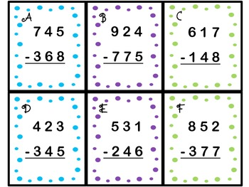 three digit subtraction w regrouping to hundreds place common core 2 nbt 5. Black Bedroom Furniture Sets. Home Design Ideas