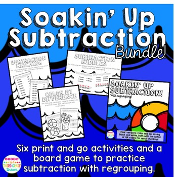 Three Digit Subtraction with Regrouping Bundle