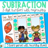 Fall Math - Three Digit Subtraction with Regrouping