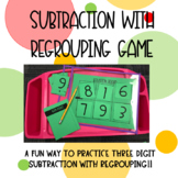 Three Digit Subtraction with Regrouping Game