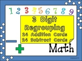 Three Digit addition and Subtraction Regrouping Cards