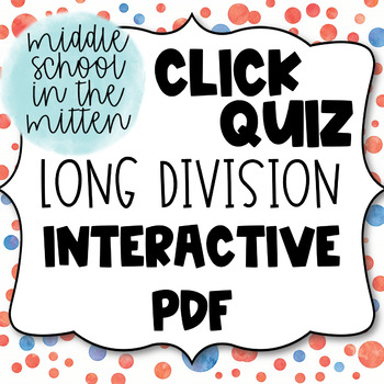 Three Digit by One Digit Long Division Interactive PDF Task Cards