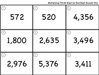 Three Digit by One Digit Multiplication