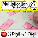 Multiplication Three Digit by One Digit Magic Square Self Checking Math Center