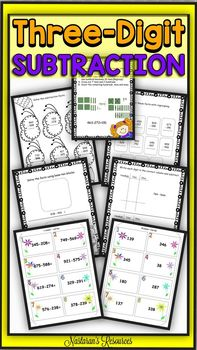Three-Digit subtraction with Regrouping Worksheets