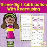 Three-Digit subtraction Worksheets with Regrouping