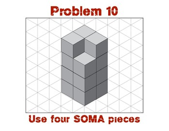 Three Dimensional (3D) Spatial Problem Solving Soma Cubes - Advanced Challenges