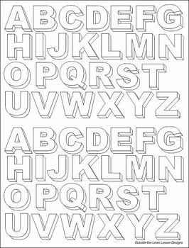 Three Dimensional Block Letters