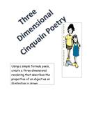 Three Dimensional Cinquain Poetry