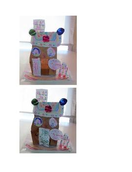 Three-Dimensional Comic Strip Gingerbread House